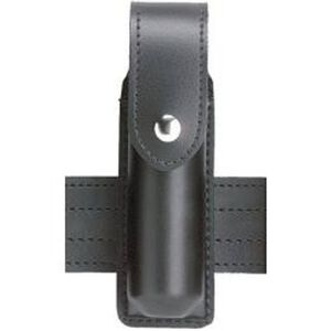 "Safariland Model 38 OC Spray Holder Standard Top Flap 1.375""x4"" SafariLaminate Snap Closure Plain Black 38-2-2"