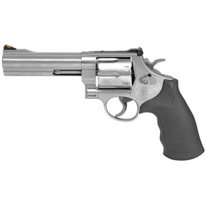 """S&W Model 629 Classic .44 Magnum Revolver  5"""" Barrel 6 Rounds Adjustable Sights Black Rubber Grips Satin Stainless Finish 163636"""