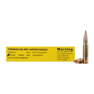 Buffalo Bore .358 Win Ammunition 20 Rounds, 225 Grain Barnes TSX Lead Free Bullet, 2500 fps