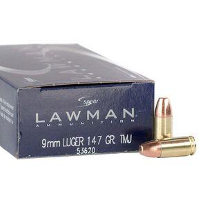 Speer Lawman 9mm Luger Ammunition Subsonic TMJ 147 Grains