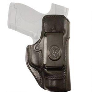 DeSantis Gunhide Inside Heat 1911 Officer/Kimber Ultra Carry/Springfield EMP IWB Holster Right Hand Leather Black 127BA19Z0