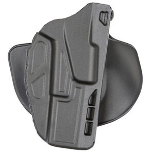 Safariland Model 7378 Paddle/Belt Loop Outside the Waistband Holster Right Hand Draw Ruger American 9/40 Models ALS System SafariSeven Construction Matte Black