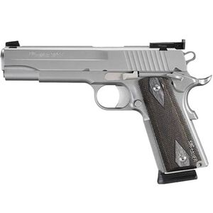 "SIG Sauer 1911 Target Stainless Semi Auto Handgun .45 ACP 5"" Match Barrel 8 Rounds Adjustable Sights Wood Grips Satin Stainless Finish 1911-45-S-TGT-CA"