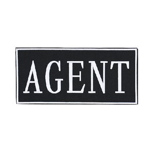 """Voodoo Tactical Law Enforcement Patches- AGENT (White 2"""" x 4"""")"""