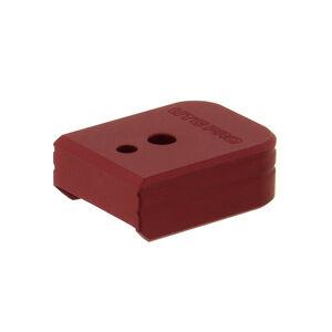 UTG PRO +0 Base Pad, S&W M&P 9/40, Matte Red Aluminum
