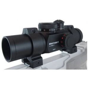 Ultradot Matchdot II Red Dot Sight Dual Reticle BDC 1 MOA with Rings Black MATCHDOT2