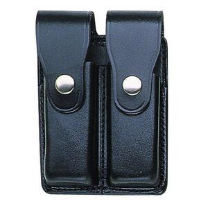 Bianchi Model 20C PatrolTek Double Stack 9mm/.40 Double Magazine Pouch Leather Chrome Snap Plain Black 26335