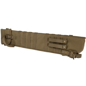 NcSTAR Tactical Shotgun Scabbard MOLLE Compatible Shoulder Carry or can be mounted on other MOLLE Gear Nylon Tan