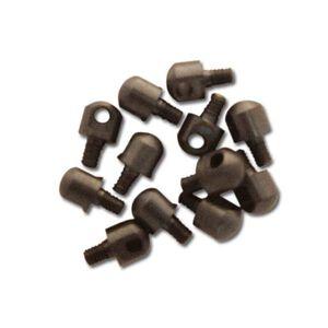 """GrovTec Sling Swivel Stud 1/8"""" Machine Screws Steel Black 12 Pack"""