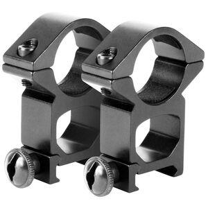 "Aim Sports Scope Rings High 1"" Weaver See Through Aluminum Black"