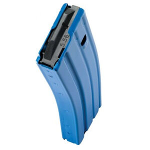 C Products Defense AR-15 5.56 NATO Magazine 30 Rounds Aluminum Construction Blue Finish