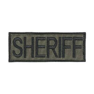 "Voodoo Tactical Law Enforcement Patch Sheriff 4""x9"" OD Green 06-7728004348"