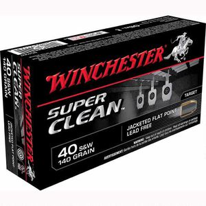 Winchester Super Clean .40 S&W Ammunition 500 Rounds, Lead Free JFP, 140 Grain