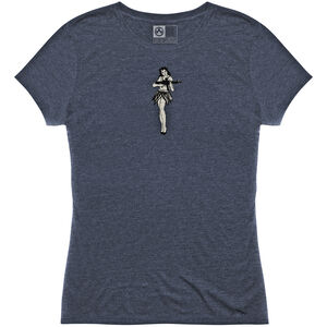 MagPul Women's Hula Girl Tri-Blend T-Shirt Large Polyester/Cotton/Rayon Navy