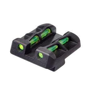HiViz LITEWAVE Fiber Optic Rear Sight For GLOCK 10mm/.45 Red/Green Steel GLLW19