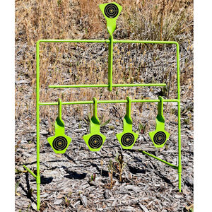GSM Outdoor/SME Resetting Reactive Steel Target .22 Caliber Rimfire Only 5 Floating Targets High Visibility
