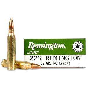 Remington Arms, .223 Remington UMC Ammunition 20 Rounds, FMJ, 55 Grains