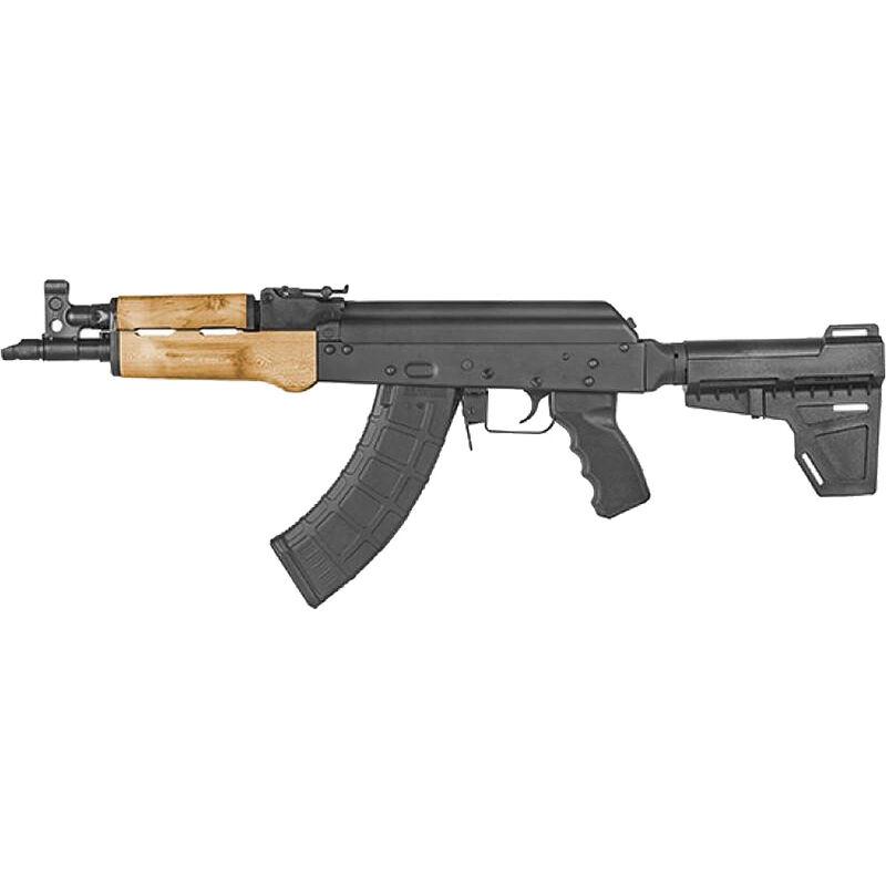 "Century Arms Draco X 7.62x39mm AK Style Semi Auto Pistol 10.5"" Barrel 30 Rounds Wood Handguard Shockwave Blade Pistol Brace Black"