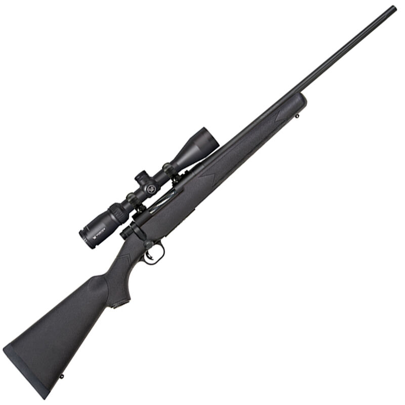 """Mossberg Patriot Vortex Scoped Combo Bolt Action Rifle .308 Winchester 22"""" Barrel 5 Rounds Vortex Crossfire II 3-9x40 Scope With BDC Reticle Synthetic Stock Matte Blued"""