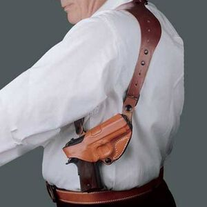 DeSantis Gunhide C.E.O. Rig Shoulder Holster For GLOCK 17/19/22/23 Right Hand Leather Tan 11ZTAB2Z0