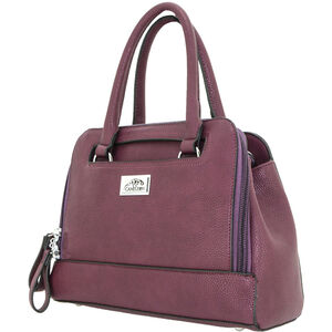 "Cameleon Belladonna Purse with Concealed Carry Gun Compartment 13""x10""x4"" Synthetic Leather Wine"