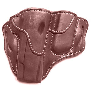 """1791 Gunleather Open Top BH1M1 Multi-Fit OWB Holster With Built in Magazine Pouch for 5"""" 1911 Semi Auto Models Right Hand Draw Leather Signature Brown"""