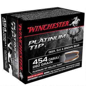 Winchester Platinum Tip .454 Casull Ammunition 20 Rounds, HP, 260 Grain