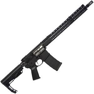 "Black Rain BRO Scout AR15 Semi Auto Rifle 5.56 NATO 16"" Lightweight Barrel 30 Rounds SLM M-LOK Handguard MFT Minimalist Stock Black"