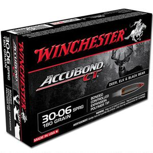Winchester Accubond CT .30-06 Springfield Ammunition 20 Rounds PT 180 Grains S3006CT