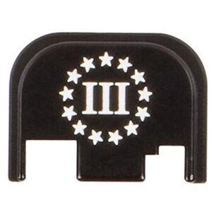 CruxOrd GLOCK 43 Back Plate 3% Flag Aluminum Black