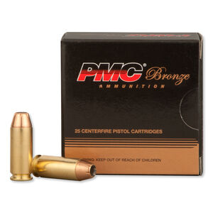 PMC Bronze 10mm Auto Ammunition 25 Rounds JHP 170 Grains 10B