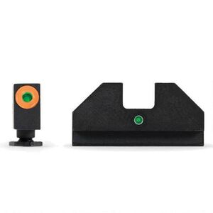 XS Sight Systems F8 Night Sights GLOCK 17/19/22/23/24/26/27/31-36/38 Green Tritium Front with Orange Ring/Green Tritium Rear Metal Housing Matte Black Finish