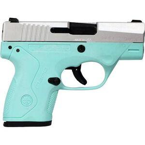 "Beretta Nano 9mm Semi Auto Pistol 3"" Barrel 8 Rounds Robin's Egg Blue Polymer Frame Inox Slide"