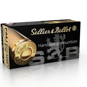 Sellier & Bellot 9mm Luger Ammunition FMJ 124 Grains