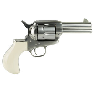 "Cimarron Doc Holliday Thunderer Stainless Steel Revolver .45 Colt 3.5"" Barrel 6 Rounds Poly Ivory Grips"