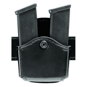 Safariland 572 Open Top Double Magazine Pouch Fits GLOCK 17/19/26 Hardshell STX Basketweave Black