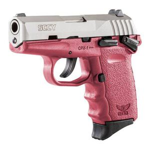 "SCCY CPX-1 9mm with Safety 3.10"" Barre, 10 Rounds, Stainless Steel/Crimson"