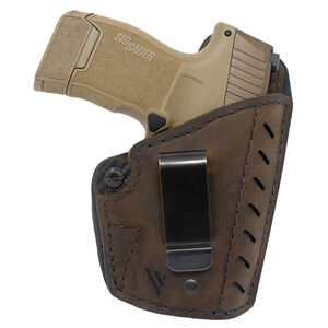 Versacarry Comfort Flex Deluxe Holster IWB Size 2 Right Hand Leather Distressed Brown