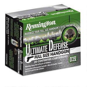 Remington Ultimate Defense 9mm Luger Ammunition 20 Rounds 147 Grain JHP