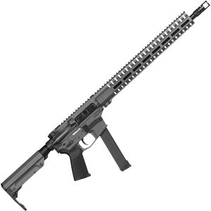 "CMMG Resolute 300 MkGs 9mm Luger AR-15 Semi Auto Rifle 16"" Barrel 33 Rounds Uses GLOCK Style Magazines RML15 M-LOK Handguard RipStock Collapsible Stock Sniper Gray Finish"