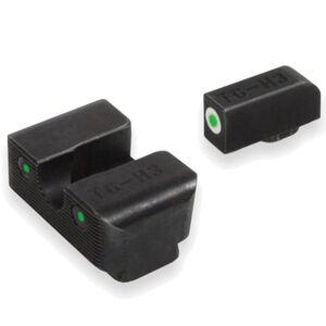 TruGlo Brite Site Tritium Pro S&W M&P Series Front/Rear Night Sight Set Green Tritium 3-Dot Configuration Front White Focus Lock Ring Steel Black