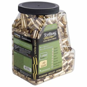 Top Brass .40 S&W Reconditioned Brass 50 Count with Tray