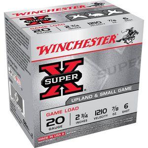 "Winchester Super X 20 Gauge Ammunition 25 Rounds, 2.75"", 7/8oz. #6"