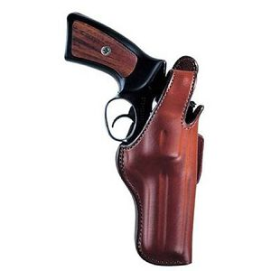 """5BH Thumbsnap Hip Holster Medium-Frame Revolvers 4"""" Barrels Size 5 Right Hand Leather Tan"""