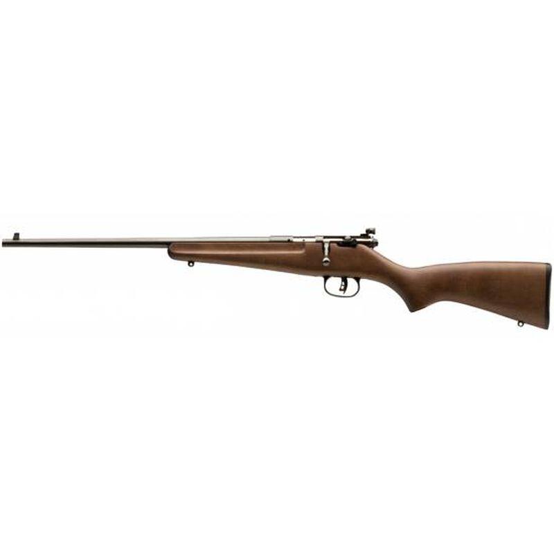 "Savage Rascal Left Hand Bolt Action Single Shot Rifle .22 LR 16"" Barrel Adjustable Peep Sight Hardwood Stock Blued Finish 13820"