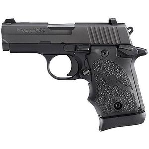 """SIG Sauer P938 Semi Auto Pistol 9mm Luger 3"""" Barrel 7 Rounds SIGLite Sights SAO System Ambi Safety Black Rubber Grips Alloy Frame/Stainless Steel Slide Matte Black Finish"""