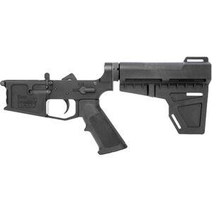 New Frontier C-4 AR-15 Pistol Complete Lower Receiver Assembly .223/5.56 Multi-Caliber Marked Billet Aluminum Mil-Spec LPK Shockwave Blade Pistol Brace Black