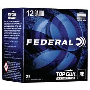"Federal Top Gun Sporting 12 Gauge Ammunition 2-3/4"" Shell #9 Lead Shot 1-1/8 oz 1145 fps"