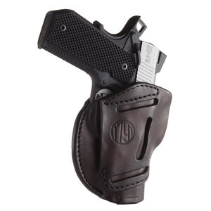 """1791 Gunleather 3WH-1 3 Way Multi-Fit OWB Concealment Holster for 3""""/4"""" 1911 Models Ambidextrous Draw Leather Signature Brown"""