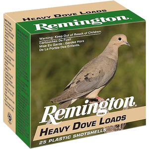 "Remington Heavy Dove Loads 12 Gauge Ammunition 2-3/4"" Shell #7.5 Lead Shot 1-1/8oz 1255fps"